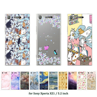 "5.2"" Soft TPU Silicone Case For Sony Xperia XZ1 Phone Back Cover Skins Marble"