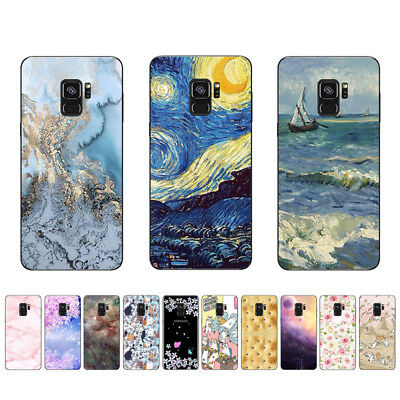 "5.8"" Soft TPU Silicone Case For Samsung Galaxy S9 Phone Back Cover Skins Marble"