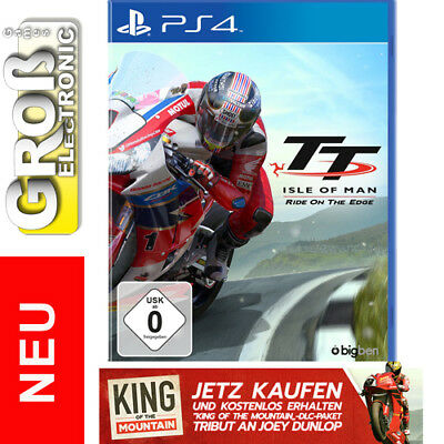 TT Isle of Man Ride on the Edge + King of the Mountain DLC PS4 Playstation 4 NEU