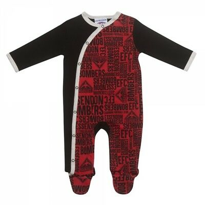 Essendon Bombers Baby Infant Romper Coverall Official AFL