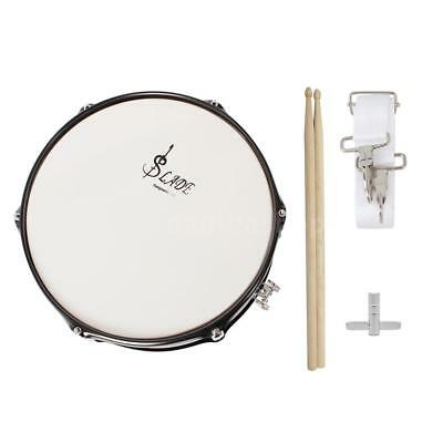 Professional Snare Drum Head 14 Inch with Drumstick Drum Key Strap Black X1C7