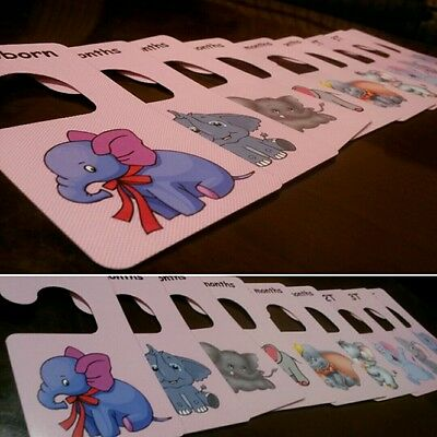 Girl's Baby clothes closet dividers. Size newborn - 4T