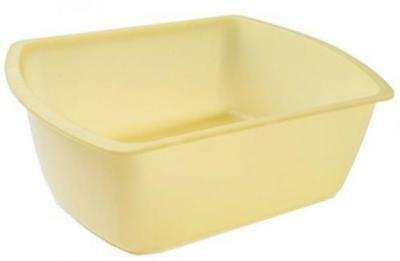 Vakly Rectangular Plastic Wash Basins Yellow 8 Quart Rolled Rim Brand New