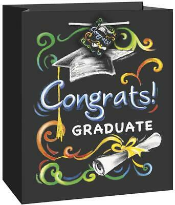 Unique Chalkboard Graduation Medium Gift Bag