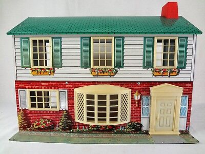 Wolverine Doll House 1950 S Vintage Tin Dollhouse 1 24 Scale Metal Litho 120 00 Picclick