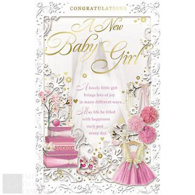 New baby girl congratulations card luxury card verse made in congratulations greeting card a new baby girl m4hsunfo