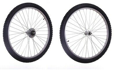 """26"""" Mountain Bike Cycle Wheels inc Tyres & Tubes Front & / or Rear 5 6 7 Speed"""