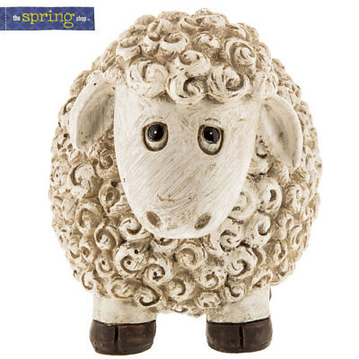 Round Sheep Lamb Figurine Statue. Very Cute Indoor & Outdoor Home Decor
