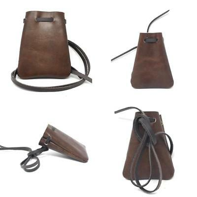 Leather Drawstring Pouch, Coin Bag, Medicine, Tobacco Pouch, Medieval