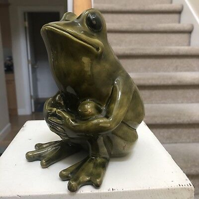 "Thoughtful Frog... 6"" Tall Ceramic Frog Decor"
