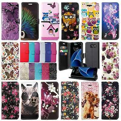 **For Samsung Galaxy S7 Edge & S8 Plus Leather Wallet Book Flip Case Phone Cover