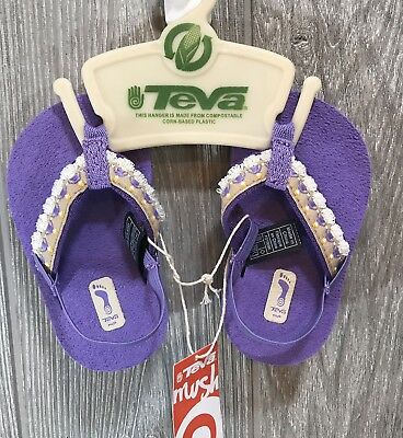 947a31665f6f Teva Mush Infant Baby HULA GIRL S Sandals 6085 New (Hula Girl PURPLE ) NIP