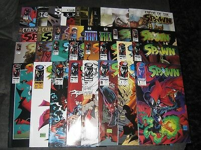 (O268) SPAWN (1992) IMAGE comic book (LOT OF 33) ranging from # 1- 61 + CURSE +