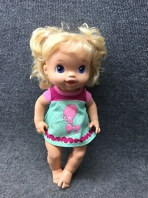 "Baby Alive Beautiful Now Blonde Doll 14"" 2011 Hasbro"