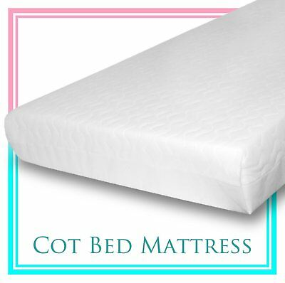 Baby Travel Cot Mattress 119 x 59 x 10 CM QUILTED Breathable Antiallergenic - UK