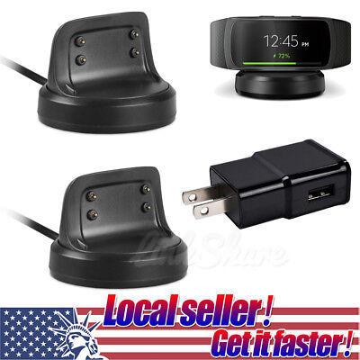 US Dock Station USB Charging Cable Charger For Samsung Gear Fit 2 Smart Watch di