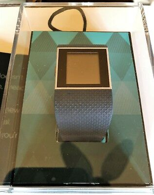 Fitbit Surge Fitness Watch With Heart Rate Monitor Large Black (fb501bklt)