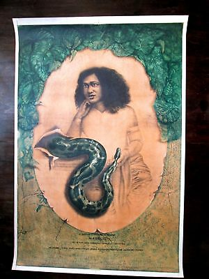 "Vintage Soviet Latvia Poster For Theater Play ""mowgli"" 1983"