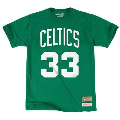 Mitchell & Ness Larry Bird #33 Boston Celtics Name & Number NBA Tee Grün