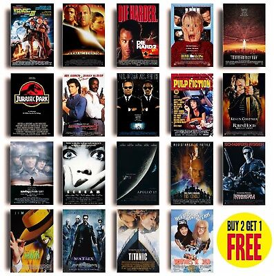 78CLASSIC 90s MOVIE POSTERS A4 Size Photo Print Film Cinema Wall Decor Fan Art