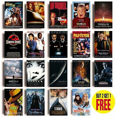 CLASSIC 90s MOVIE POSTERS A4 Size Photo Print Film Cinema Wall Decor Fan Art