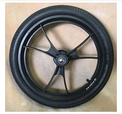 "Double Baby Jogger Summit X3 Stroller Rear Wheel Black Parts 16"" NEW  Tire"