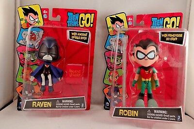 """New Teen Titans Go 5"""" Robin and Raven Figure lot of 2"""