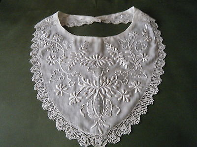 18c Antique Collar white Ayrshire embroidery & needle work H done ENGLANG