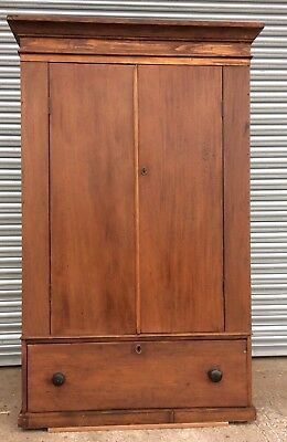 Victorian Pine And Mahogany Housekeepers Cupboard