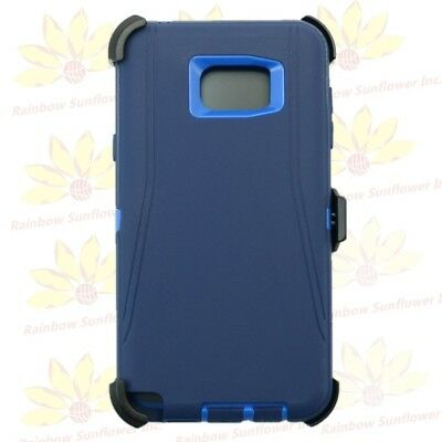 For Samsung Galaxy Note 5 Case Cover (Belt Clip Fits OtterBox Defender ) Navy