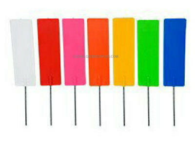 50 x Reusable UV Stabilized Coloured Plastic Survey Pin Marking Tags