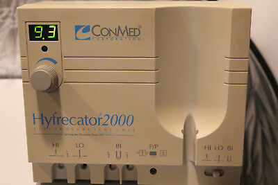 Conmed Hyfrecator 2000 Electrosurgical model:7-900-115 W/Handpiece & tips
