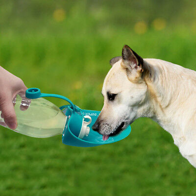 Portable Pet Cat Dog Water Bottle 650ml Travel Folding Bowl Feeder High Quality