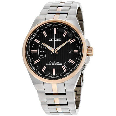 Citizen World Perpetual A-T Gray Dial Stainless Steel Men's Watch CB0166-54H