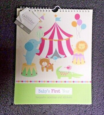 Baby's First Year Keepsake Circus Calendar and Stickers (M)