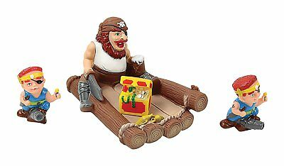 Floating Bath Tub Toy Playmaker Toys Rubber Pirate Family Bathtub Pals Set of 4