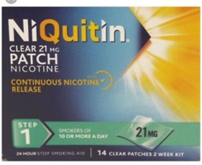 Niquitin Clear 21Mg 14 Patches Step 1 Large Box Free Uk Delivery