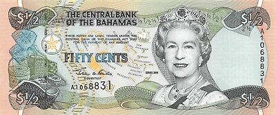 Bahamas 1/2 Dollars, 2001 P.68 Uncirculated Unc