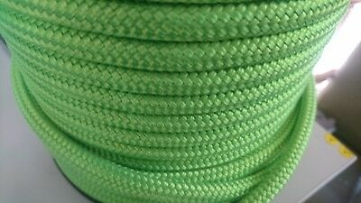 10MM Double Braided Rope Polyester Yacht Rope 35MTS lime green