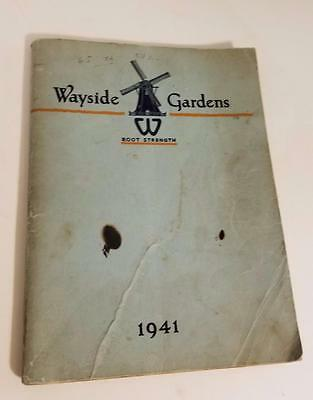 1941 Wayside Garden Catalog color black white illustrations vintage ephemera