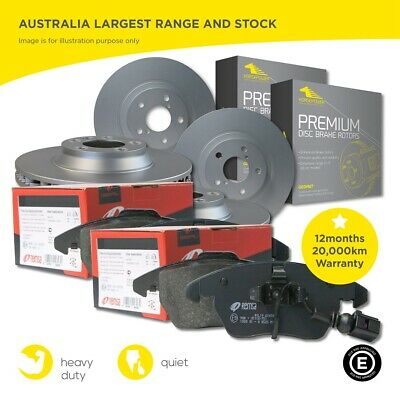 Full Set Front and Rear Brake Pads and Disc Rotors for Audi A4 B6 2000-2005