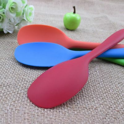 Scoop Heat Resistant 1 Pcs Solid Kitchen Grade Silicone Spoon Mixing Cooking