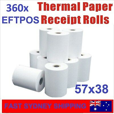 360 Bulk Rolls 57x38mm Premium EFTPOS Thermal Paper Cash Register Receipt Rolls