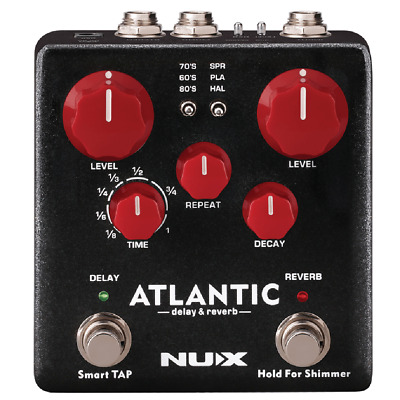NuX Atlantic Delay and Reverb Pedal Preorder Ships in October