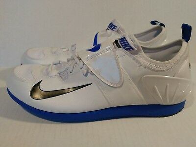 the latest b83f9 8ea78 New Nike Zoom PV II Pole Vault Spikes Shoes White Blue 317404-100 Size 15