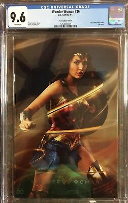 Wonder Woman 26 SDCC Foil Gal Gadot Photo Variant limited to 1000 copies CGC 9.6