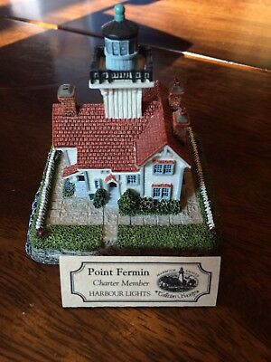 pt. fermin harbour lights #528 collectors society 1999 signed