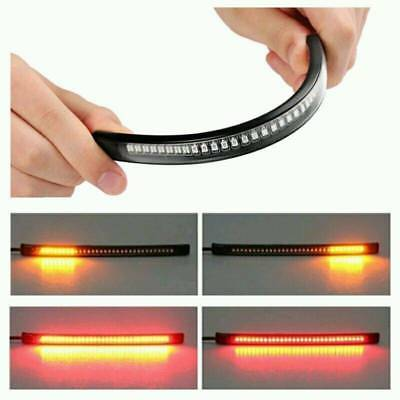 New Flexible Motorcycle 48LED Light Strip Rear Tail Brake Stop Turn Signal Light