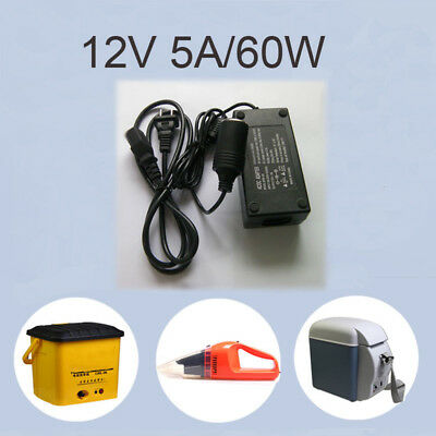 110V-240V AC Wall Power to DC 12V 5A 60W Car Cigarette Lighter Adapter Inverter