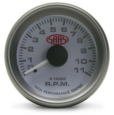 SAAS 52mm Tachometer White face